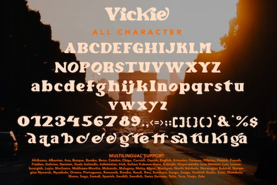 Vickie Font download