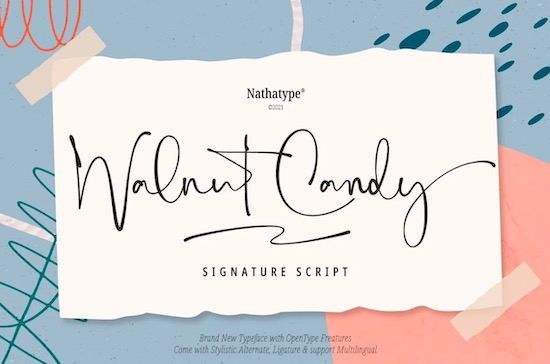 Walnut Candy Font free download