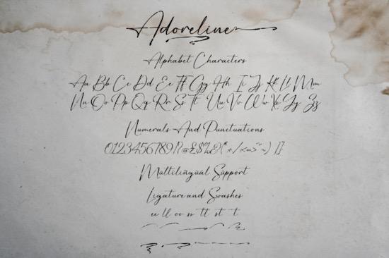 Adoreline Font free