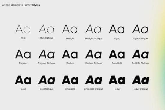 Altone Font Family download