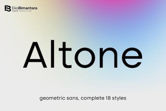 Altone Font Family free download