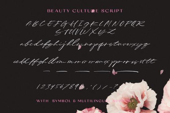 Beauty Culture Font download