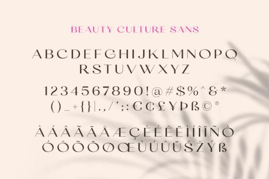 Beauty Culture Font free
