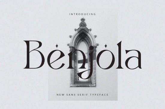 Benjola Font free download