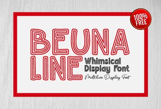 Beuna Line Font free download