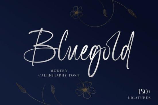 Bluegold Font free download