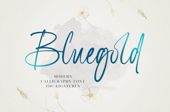Bluegold Font free