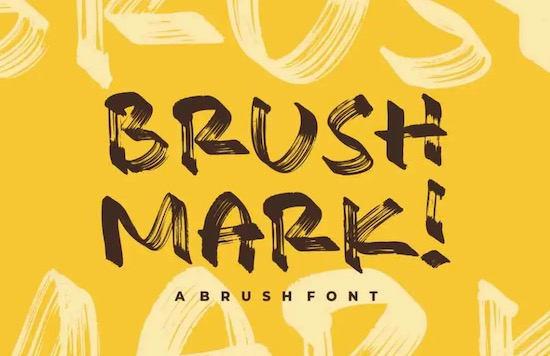 Brush Mark Font download