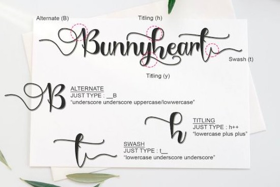 Bunnyheart Font free