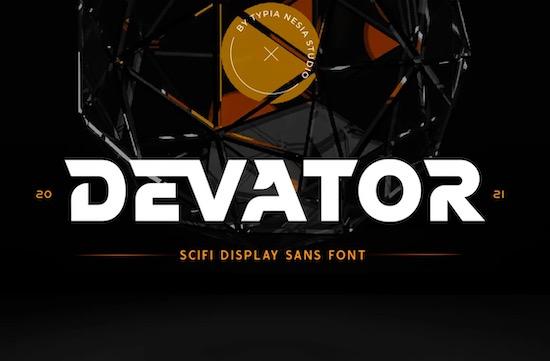 Devator Display Sans Font free download