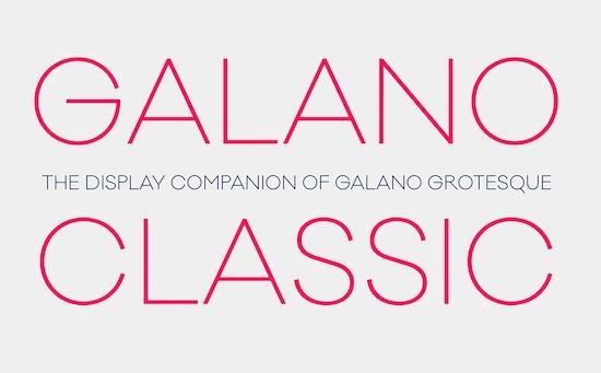 Galano Classic Font download