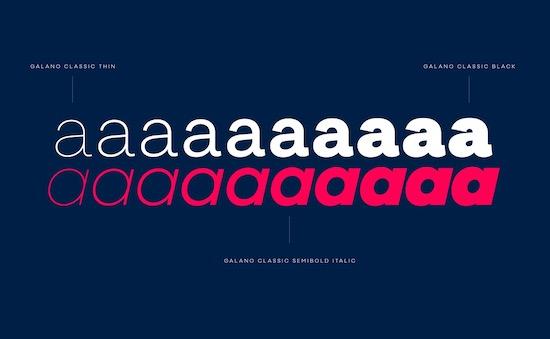Galano Classic Font free