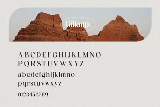 Giliams Font free