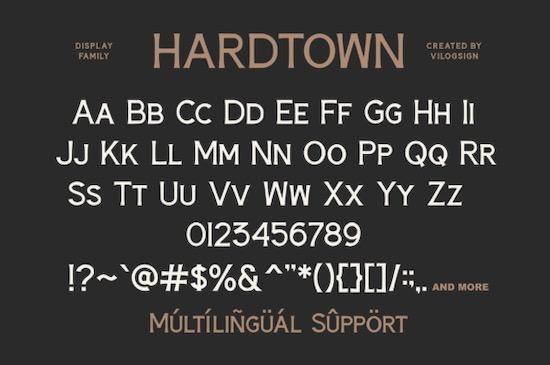 Hardtown Font download