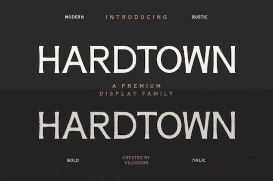 Hardtown Font free download