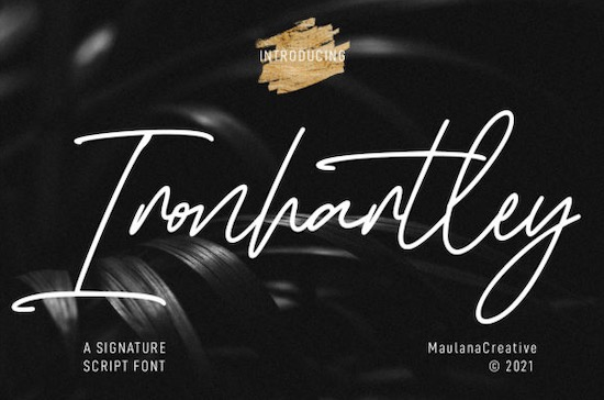 Ironhartley Font free download