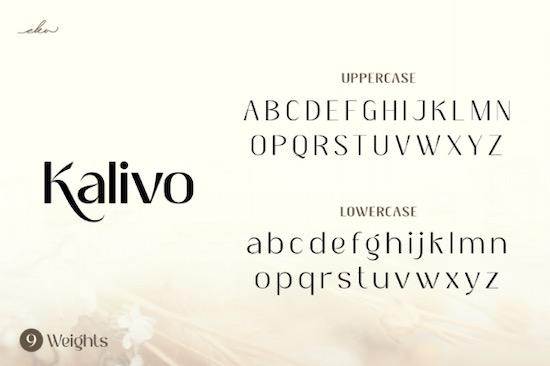 Kalivo Font download