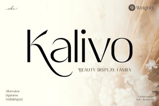 Kalivo Font free download