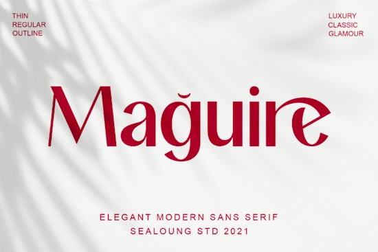 Maguire Font free download