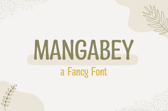 Mangabey Font free download