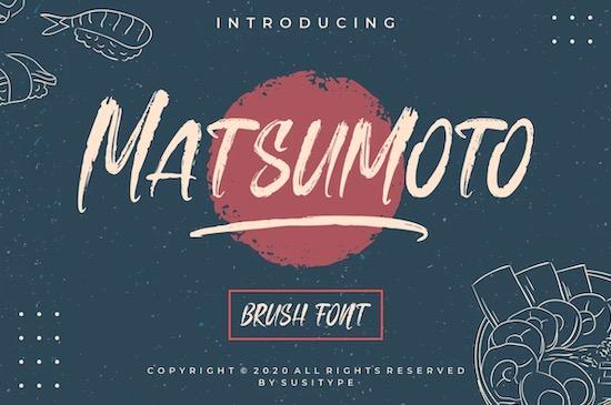 Matsumoto Font free download
