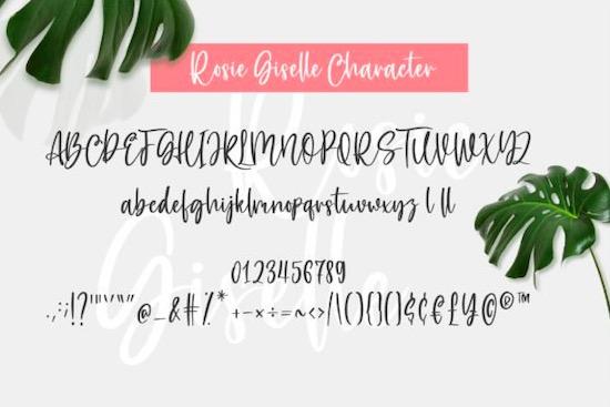 Rosie Giselle Font download