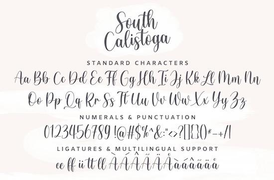South Calistoga Font download