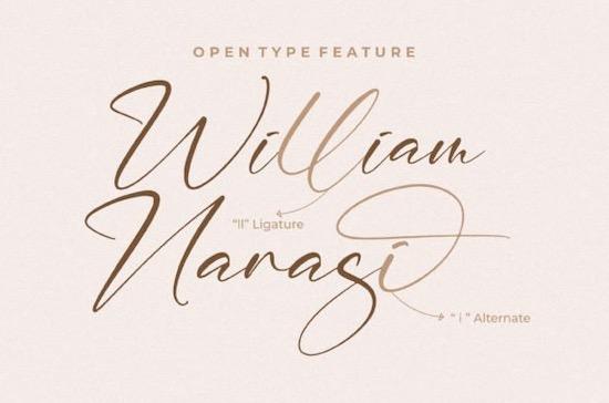William Narasi Font free